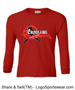 Red Crossfire Youth Long Sleeve Design Zoom