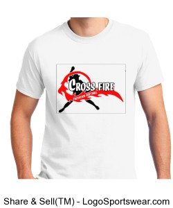 White Crossfire Adult T-shirt Design Zoom