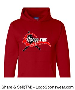Red Crossfire Adult Hoodie Design Zoom