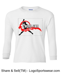 White Crossfire Youth Long Sleeve Design Zoom