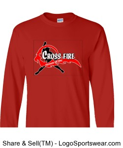 Red Crossfire Long Sleeve Adult Design Zoom