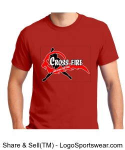 Red Crossfire Adult T-shirt Design Zoom