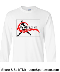 White Crossfire Long Sleeve Adult Design Zoom
