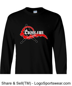 Black Crossfire Long Sleeve Adult Design Zoom