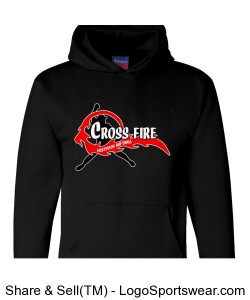 Black Crossfire Adult Hoodie Design Zoom
