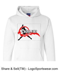 White Crossfire Adult Hoodie Design Zoom