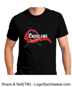 Black Crossfire Adult T-shirt Design Zoom